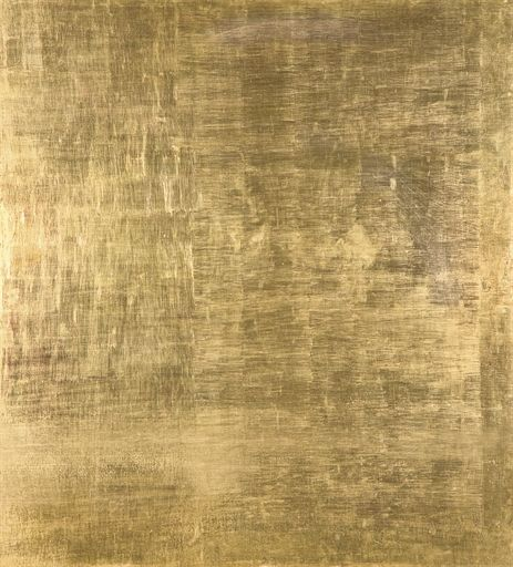 blastedheath:  Mathias Goeritz (German/Mexican 1915-1990), Mensaje, c.1959. Gold leaf on wood, 135 x 122 cm.