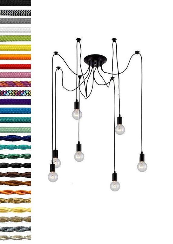 SWAG 7 Any colors Pendant Chandelier Modern by HangoutLighting