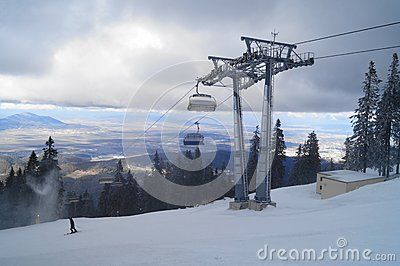 Mountain ski resort, Romania,Transylvania, Brasov, Poiana Brasov, Postavarul Mountains