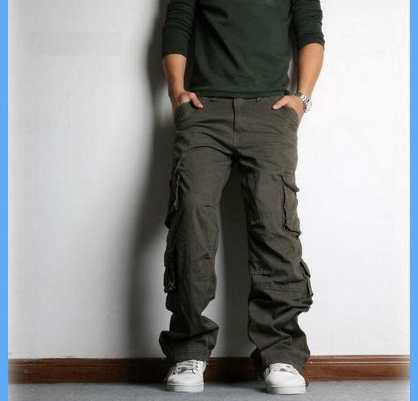 Широкие брюки мужские с карманами