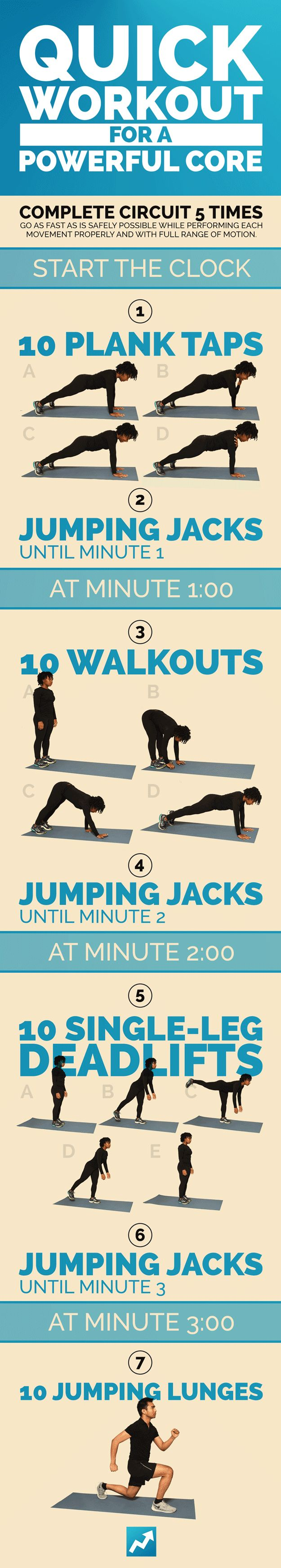Quick workout for a powerful core