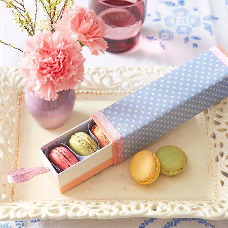Ostergeschenke - süße Sachen schön verpackt - ostergeschenke-macarons  Rezept