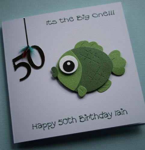 17 Best images about fish cardsetc – Fish Birthday Card