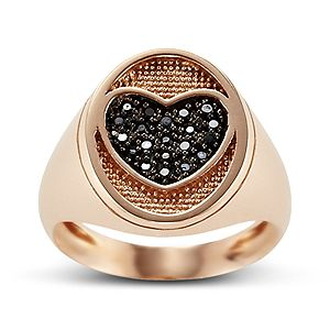 Chevalier ring pink gold14ct