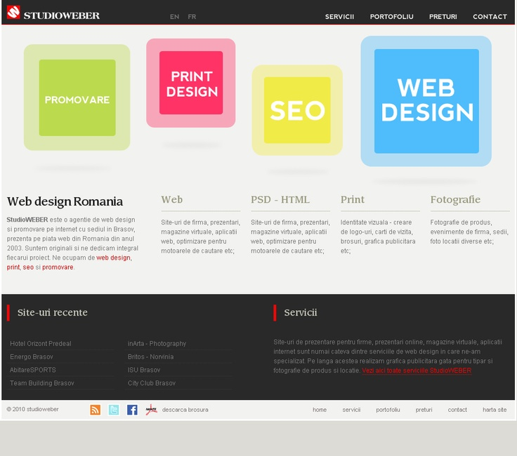Web design and development - Home page - http://www.studioweber.ro