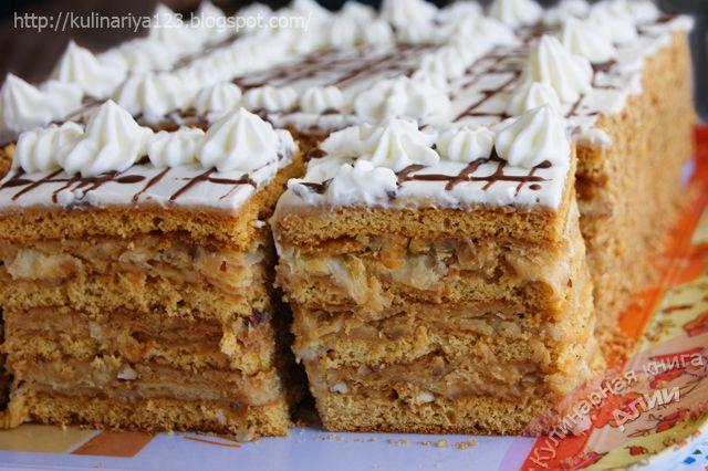 медово-слоеный торт
