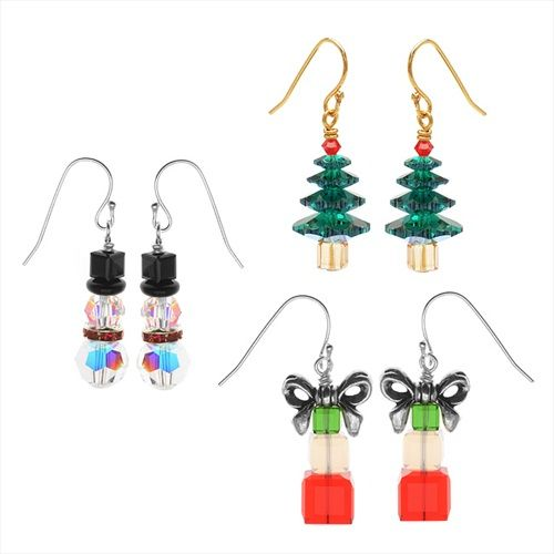 CRYSTAL CHRISTMAS EARRING SET KIT EXCLUSIVE BEADAHOLIQUE JEWELRY KIT from beadaholique.com $29.99