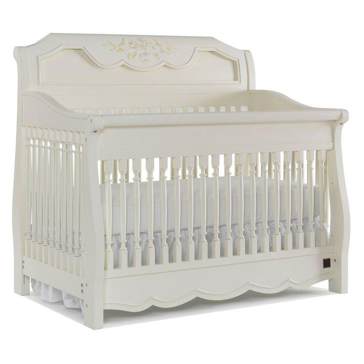 kathy ireland Princess Garden Sleigh Crib - Sweet Cream ...