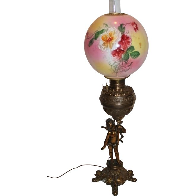 fancy design dragon lamps. Outstanding Figural Cherub Banquet Oil Lamp  Original Shade with Hand Painted Roses Breathtaking BEAUTY 89 best Antique Victorian Lamps images on Pinterest