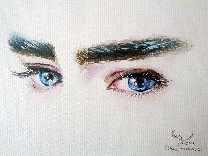 """Painting """"The eyes of Thranduil""""  by Mona Zhang."""