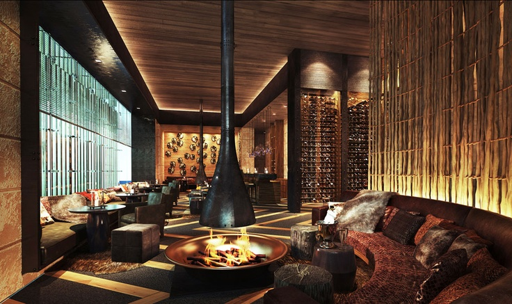 The Chedi Andermatt Dining #Bar and Living Room