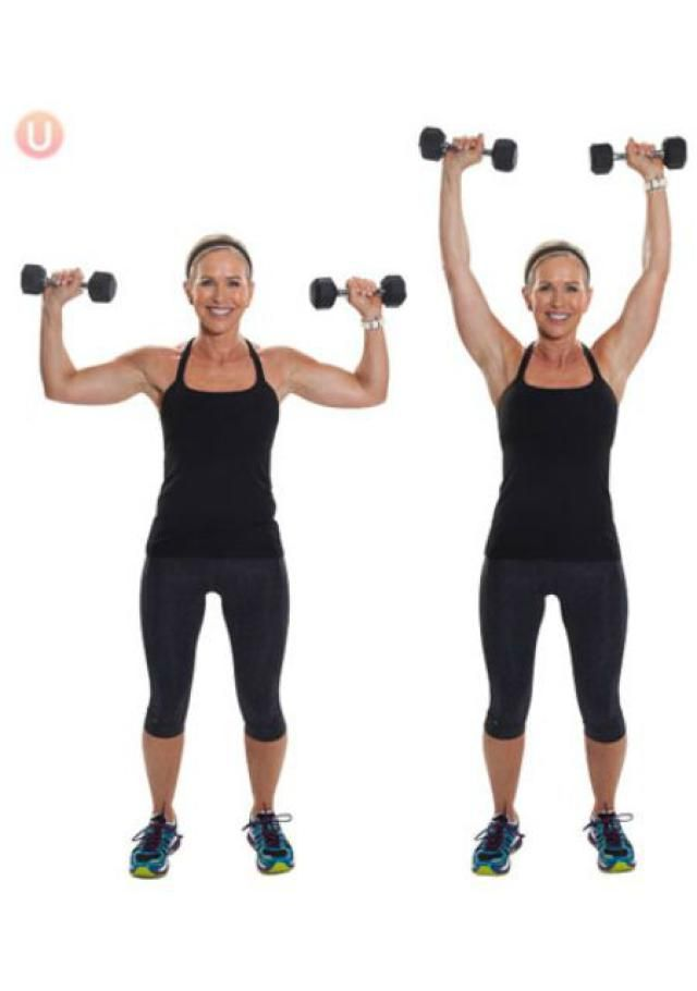 10 Must-Do Strength Training Moves For Women Over 50: Shoulder Overhead Press