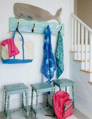 """""""Maine designer Tracey Rapisardi customizes coastal homes with her blend of furniture styles and signature color palettes. These are two examples of her fun beach cottage style!"""