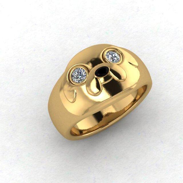 Custom 'Adventure Time' Engagement Ring Designed to Resemble Jake the Dog #adventuretime