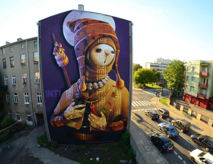 STREET ART UTOPIA » We declare the world as our canvas8 Galeria Urban Art Forms in Lodz, Poland. By Inti » STREET ART UTOPIA