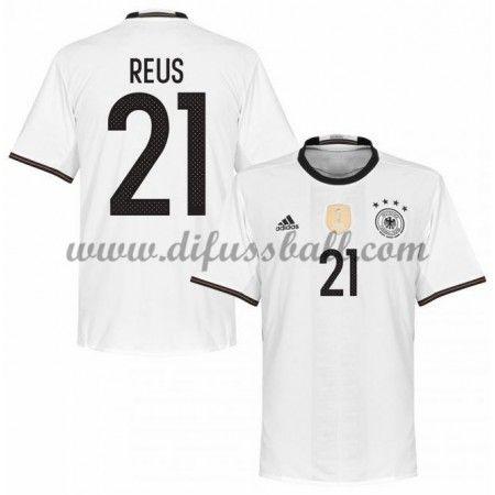 Nationaltrikot Deutschland 2016 Reus 21 Kurzarm Heim Fußballtrikots