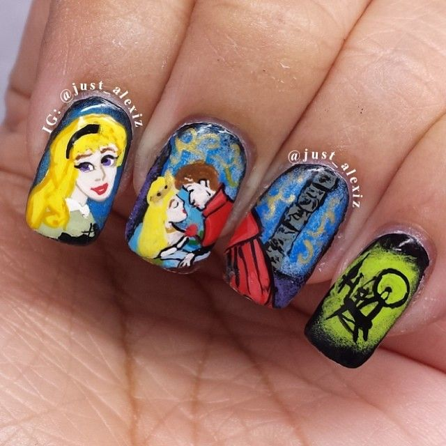 Sleeping Beauty Nails: 17 Best Images About Disney Nailart On Pinterest