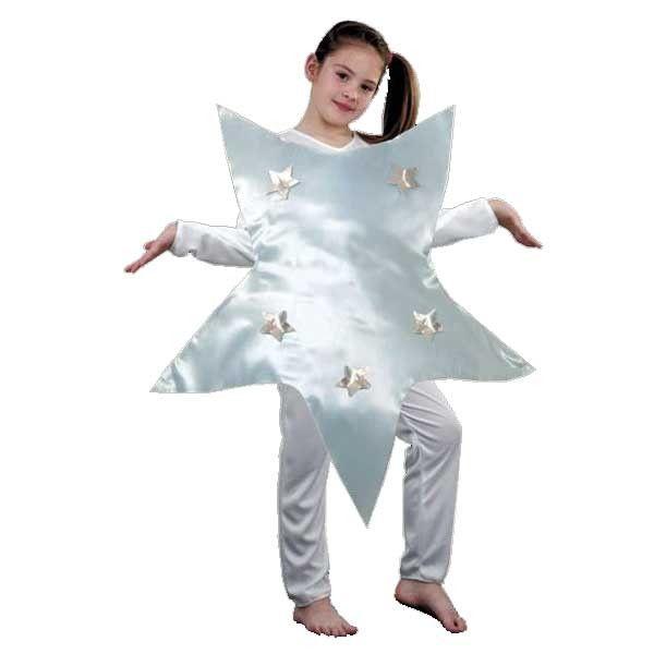 Disfraz de Estrella de Navidad en blanco.