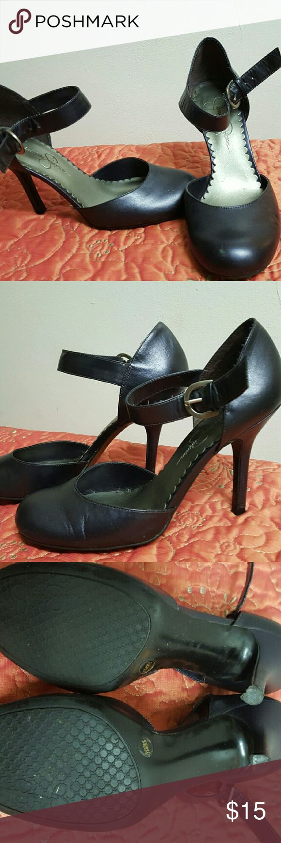 Jessica Simpson high heels Violet colored Jessica Simpson strap high heels size  6 1/2 used Jessica Simpson Shoes Heels