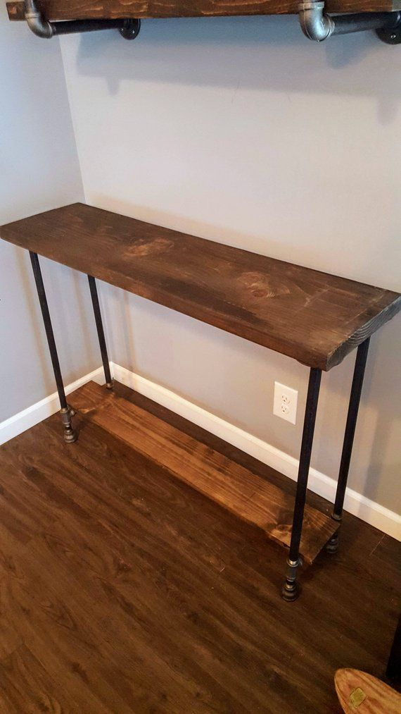 Narrow Console Table With Shelf Buffet Reclaimed