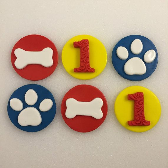 Paw Print Dog Bones Inspired by Paw Patrol by KedulceSugarDesigns