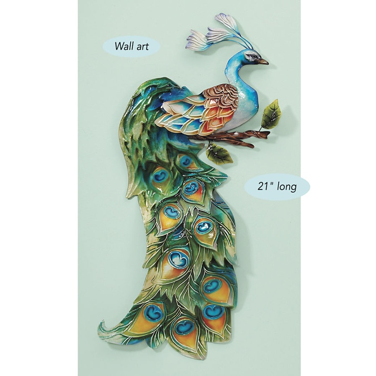 Capiz shell peacock wall art with images peacock wall