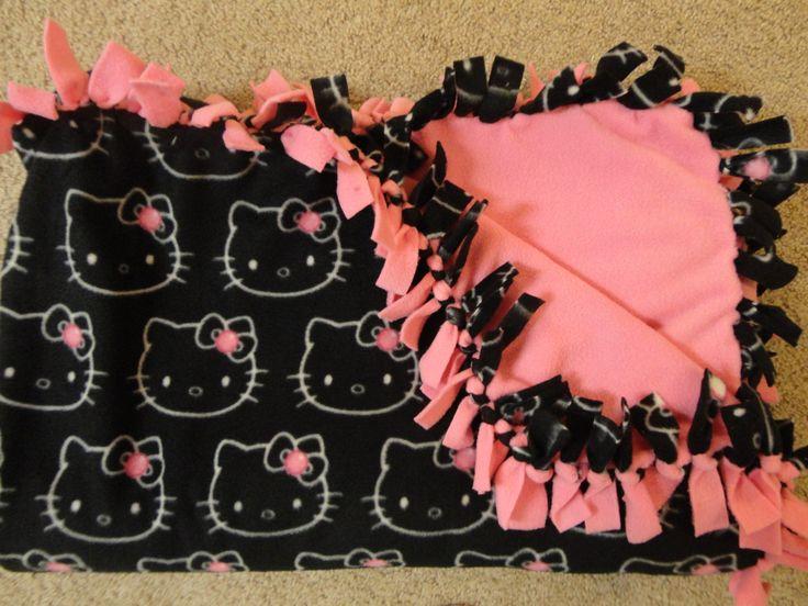 Hello Kitty No Sew Fleece Blanket  Full by EmilyMarieCreations, $45.00