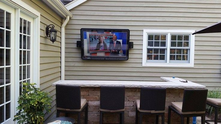Awesome weatherproof TV enclosures for backyards, these are great! =-)