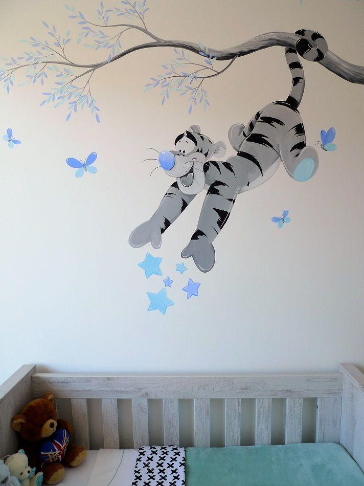 Babykamer muurschildering Tigger | Children Rooms in 2019 ...