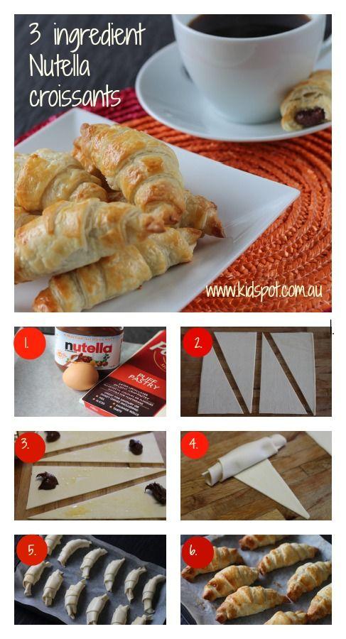 3 ingredient Nutella croissants