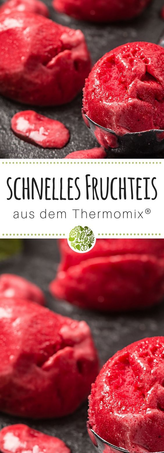 Fast fruit ice cream from the Thermomix®