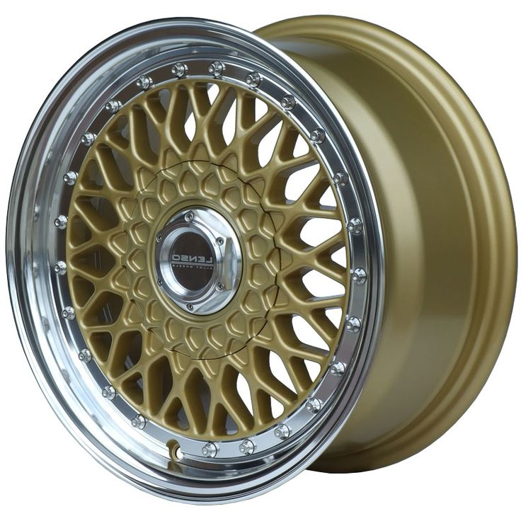 LENSO BSX GOLD MIRROR LIP alloy wheels with stunning look for 4 studd wheels in GOLD MIRROR LIP finish with 16 inch rim size
