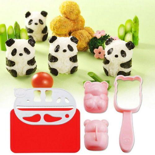 ADORABLE: Onigiri Mould Nori DIY Maker Punch Sushi Rice Ball Mold Bento Tool Panda Shape, $3.50/Fship