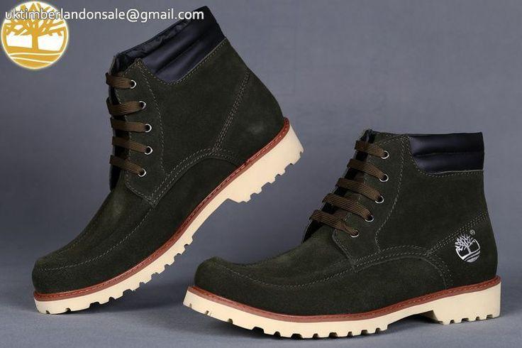 Custom Navy Green-Black 6 Inch Discount Timberland Men Boots $95.99