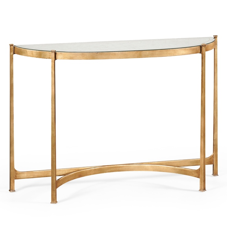 Half moon console table in a gilded finish homestyle for Half moon console table