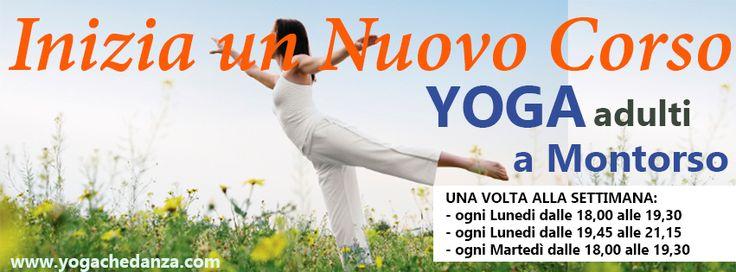 INIZIANO I CORSI YOGA a montorso Edizione di Primavera  #yogamontorso