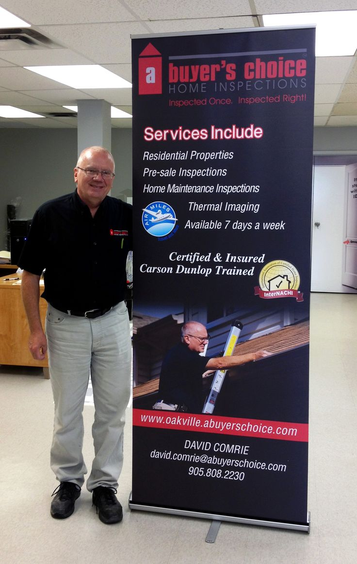 A wonderful referral from another A Buyer's Choice Home Inspections franchisee. Retractable banner stand looks great!