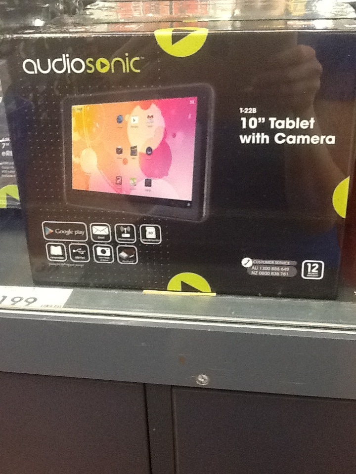 Elaine, Kmart.  Android tablet, $179.00