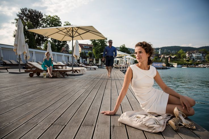The Beach Club is a perfect setting for relaxing in the lap of luxury with its large outdoor pool and direct access to the lake.  http://www.falkensteiner.com/en/hotel/schloss-hotel-velden/beachclub-velden
