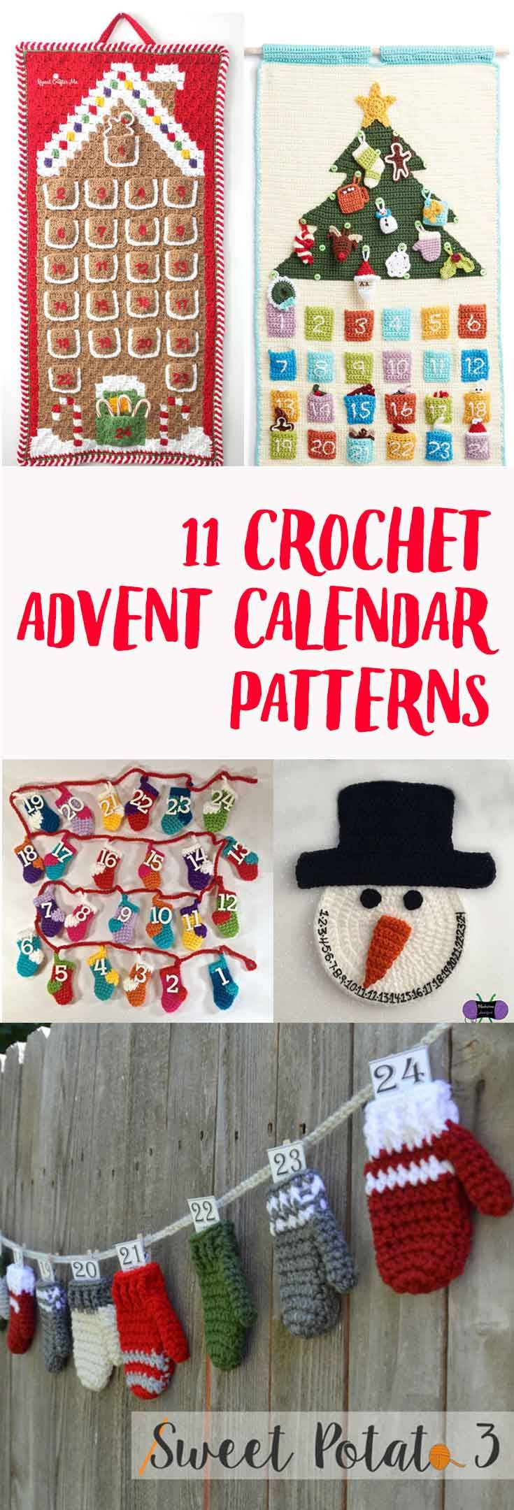 There are a lot of crochet advent calendar patterns out there. I picked the best 11 patterns to help you spend less time searching for patterns and more time crocheting.