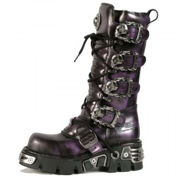 New Rock Stiefel Boots gothic lila M.402-C1 30 Tage