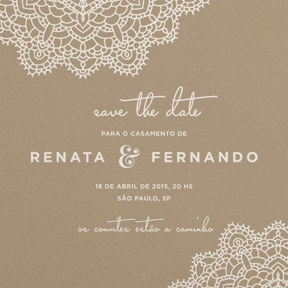 Save the Date Digital - Renda