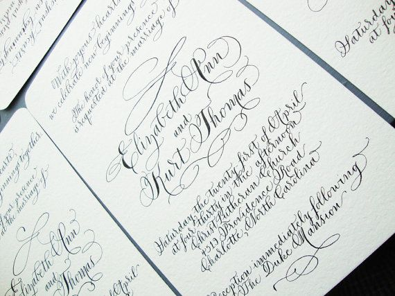 36 best Handwritten wedding invitations images on Pinterest