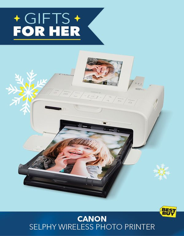 """Give the gift of instant gratification with the Canon Selphy Photo Printer. It's never been easier to print memories directly from your compatible mobile device, wireless camera or smart device. Create pictures up to 4"""" x 6"""" in vivid 300 dpi quality. With free shipping, it's holiday gifting made easy from Best Buy."""