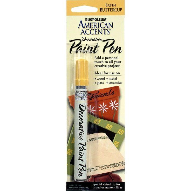 Rust Oleum American Accents Satin Buttercup Decorative Paint Pen 6 Pack Beige Cream Paint Pens Rugs On Carpet