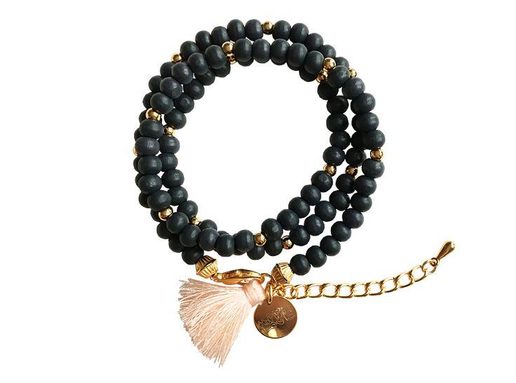 BOHEMIAN BRACELET black Hippie bracelet festival boho bohemian armcandy coachella ethno wrap bracelet hippie schmuck hippie armband quaste tassel schwarz