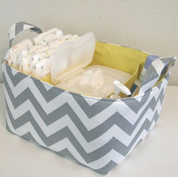 diaper organization shower gift.  This would take a little more experience but some day it could be great to make