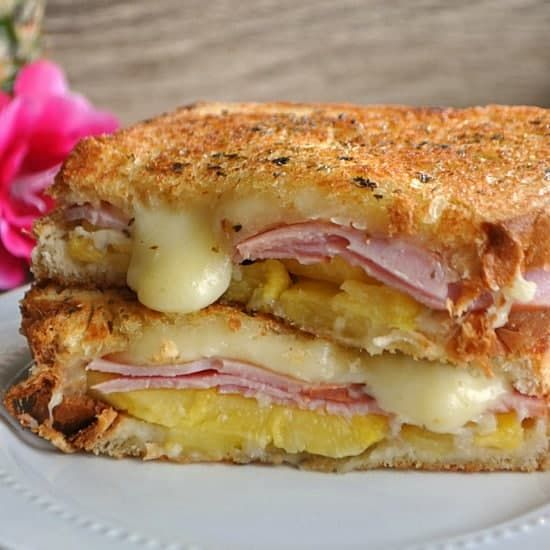 This Hawaiian grilled cheese is bursting with pineapple, Canadian bacon and jack cheese! I don't know what it is about Hawaiian pizza, but it was always my favorite when I was a kid. Maybe because it was different? I love pepperoni and cheese pizza, that's a classic. But the Hawaiian, was just so much fun!...Read More