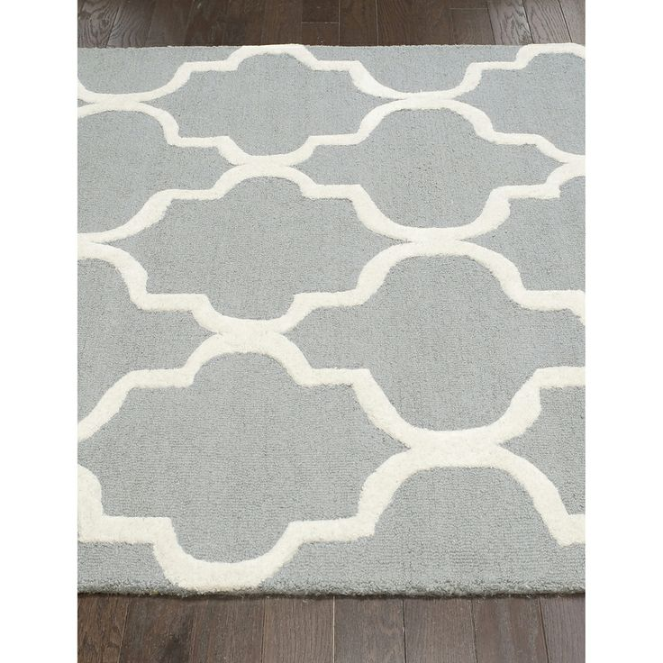 Possible Grey And White Rug Option: NuLOOM Handmade