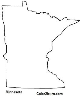 state of minnesota coloring page